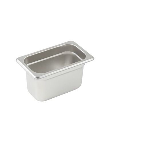 Winco SPJL-904, 4-Inch Deep, One-Ninth Size Anti-Jamming Steam Table Pan, 25 Gauge, NSF