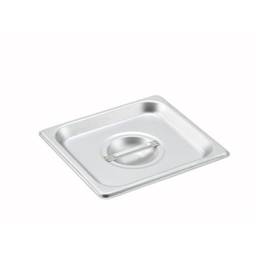 Winco SPSCS, One-Sixth Size Solid Stainless Steel Steam Table Pan Cover, NSF