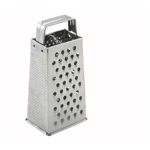 Winco SQG-1, 4x3x9-Inch Stainless Steel Tapered Grater with Handle