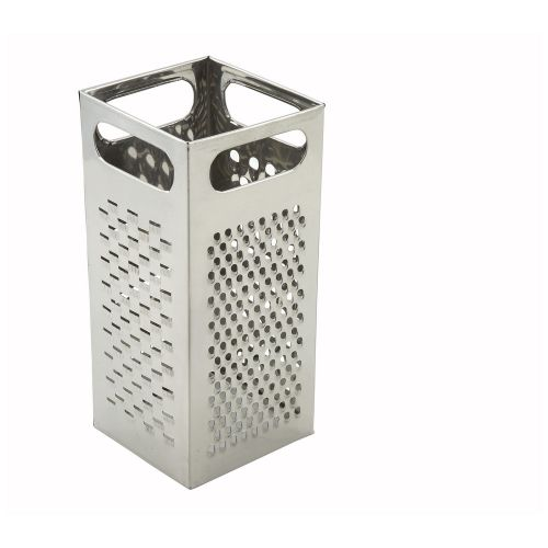 Winco SQG-4, 9x4-Inch Stainless Steel Multi-Size Box Grater with Handle