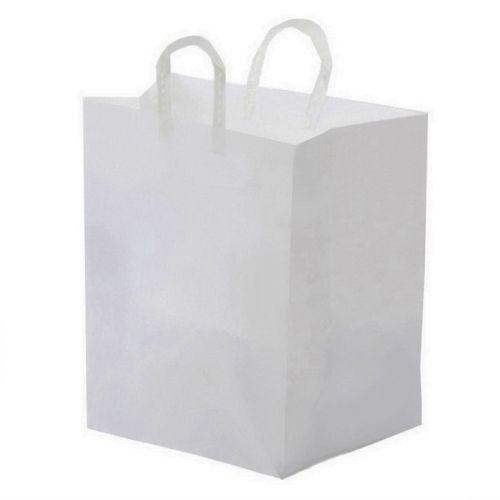 Glopack Catering SQUBBL 18x17 White Plastic Bag, 100/CS