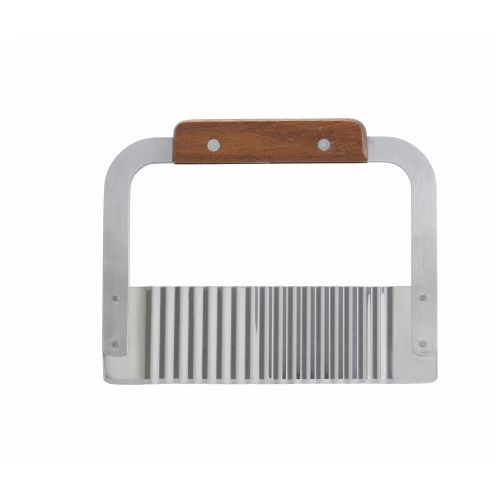 Winco SRT-7, 7-inch Stainless Steel Serrator with Wood Handle