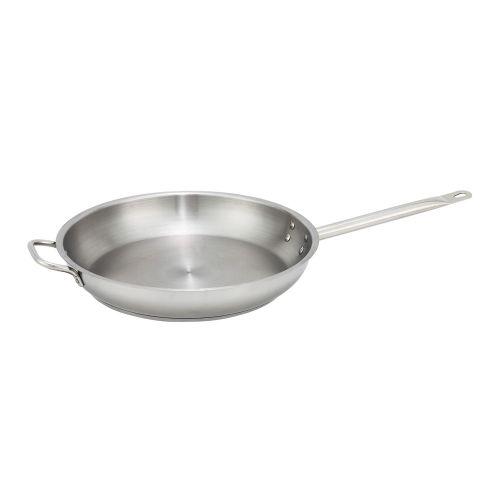 Winco SSFP-14, 2.6-Inch High 14.2-Inch Diameter Stainless Steel Fry Pan, NSF