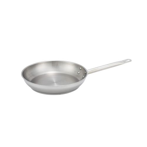 Winco SSFP-9, 1.8-Inch High 9.5-Inch Diameter Stainless Steel Fry Pan, NSF