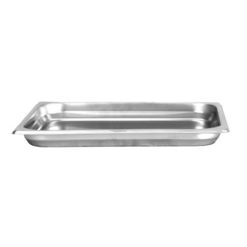 Thunder Group STPA6121, Half Size Stainless Steel 1.25-Inch Deep 22 Gauge Anti Jam Pans