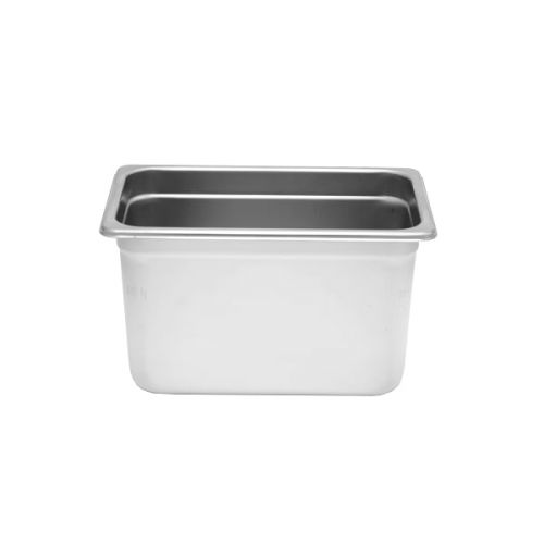 Thunder Group STPA6146, Quarter Size Stainless Steel 6-Inch Deep 22 Gauge Anti Jam Pans