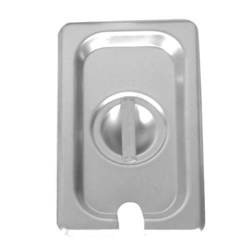 Thunder Group STPA7160CS, Sixth Size Slotted Cover for Steam Pan, Stainless Steel, Rectangular