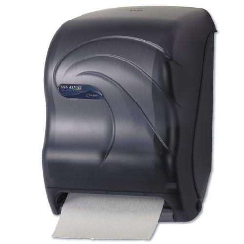San Jamar T1390tbk Oceans Tear N Dry Touchless Electronic Roll Towel Dispenser Black Pearl Ce Mcdonald Paper Supplies