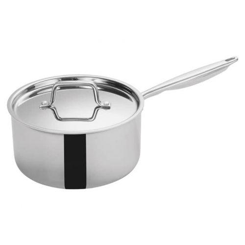 Winco TGAP-5, 4.5-Quart Tri-Ply Stainless Steel Sauce Pan w/Lid, NSF