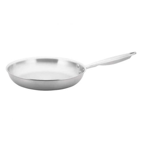 Winco TGFP-12, 12-Inch Dia Tri-Ply Stainless Steel Fry Pan w/о Lid, Natural Finish, NSF