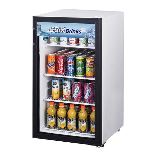 Turbo Air TGM-5R-N6 Refrigerator Countertop Merchandiser, White Cabinet w/ Black Framed Front