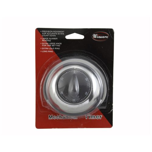 Winco TIM-78, Stainless Steel Long-Ring Mechanical Timer