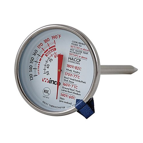 Winco TMT-MT2, 2-Inch Meat Thermometer, NSF