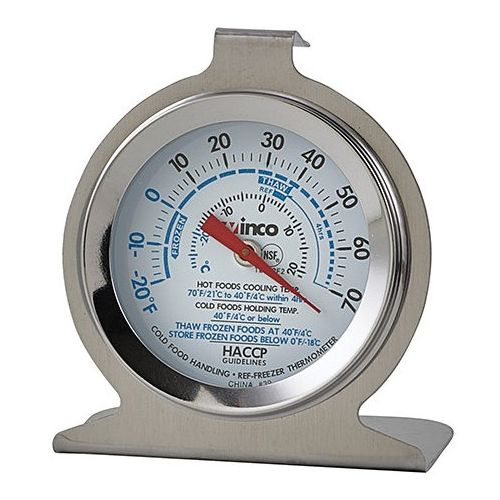 Winco TMT-RF2, 2-Inch Freezer Refrigerator Thermometer