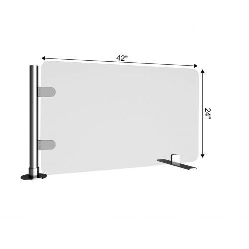 TRNGRD-S3 42x24-Inch Acrylic Protective Side Guard, Pole w/Sikura