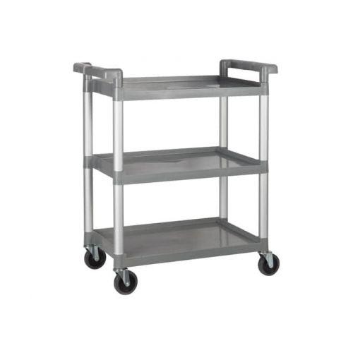Winco UC-2415G, 32 x 16-1/8 x 36-3/4- Inch Utility Cart, 3 Tiers, Gray