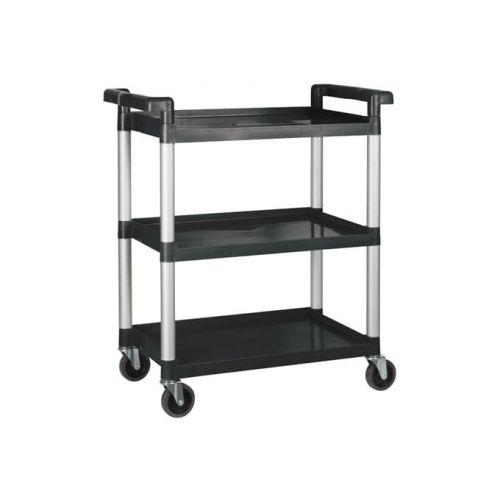 Winco UC-2415K, 32 x 16-1/8 x 36-3/4- Inch Utility Cart, 3 Tiers, Black
