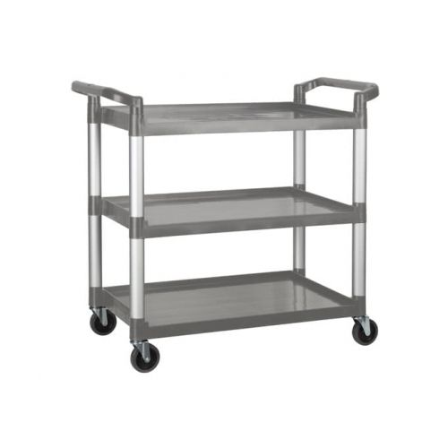 Winco UC-3019G, 40-3/4 x 19-1/2 x 37-3/8-Inch Utility Cart, 3 Tiers, Gray
