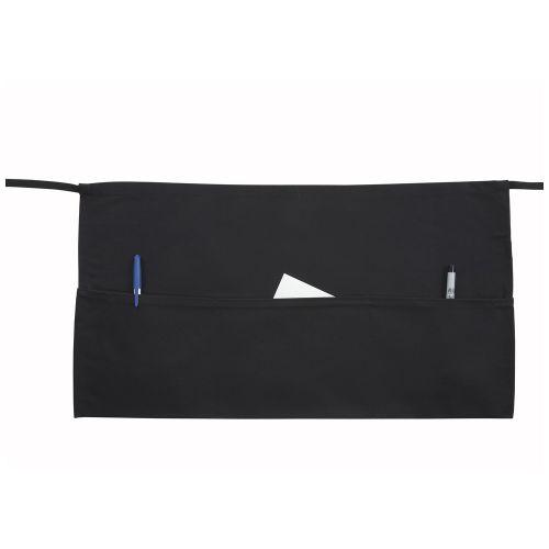Winco WA-1221, 22x12-Inch Black Waist Apron