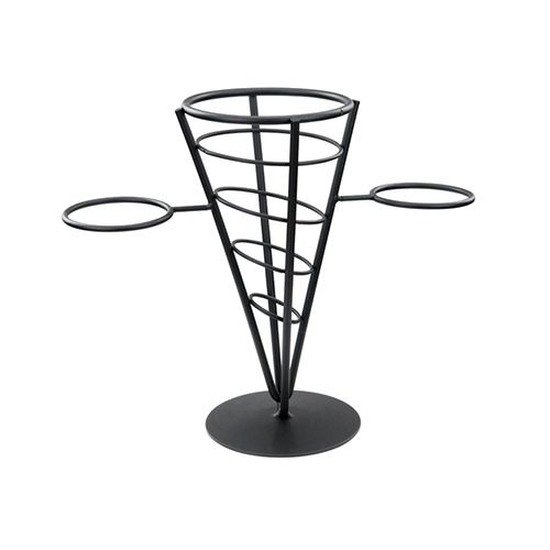 Winco WBKH-5, 1-Cone Black Wire French Fries Basket