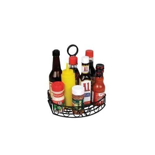 Winco WBKH-6SB, Black Straight Back Wire Tabletop Condiment Rack