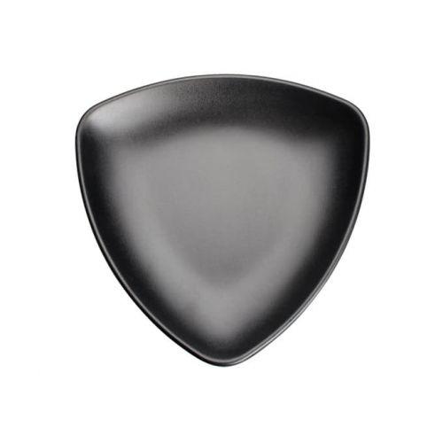 Winco WDM015-302, 9-Inch Dia Ardesia Natsuki Triangular Melamine Plate, Black, 24/CS