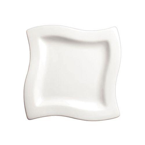 Winco WDP011-101, 6-Inch Ardesia Cramont Porcelain Square Swirl Bowl, Bright White, 36/CS