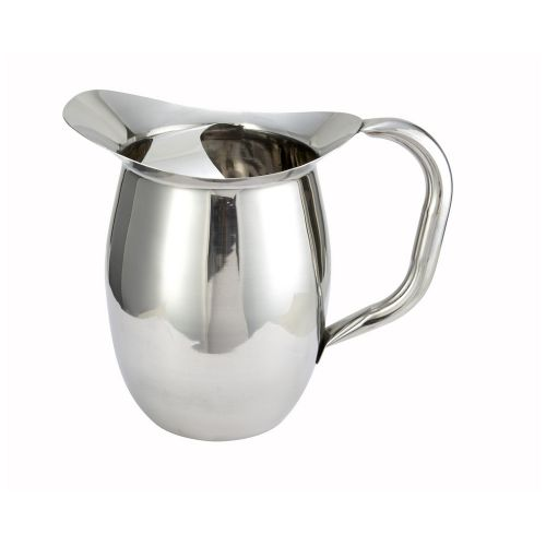 Winco WPB-2C, 2-Quart Stainless Steel Deluxe Bell Pitcher with Ice Catcher