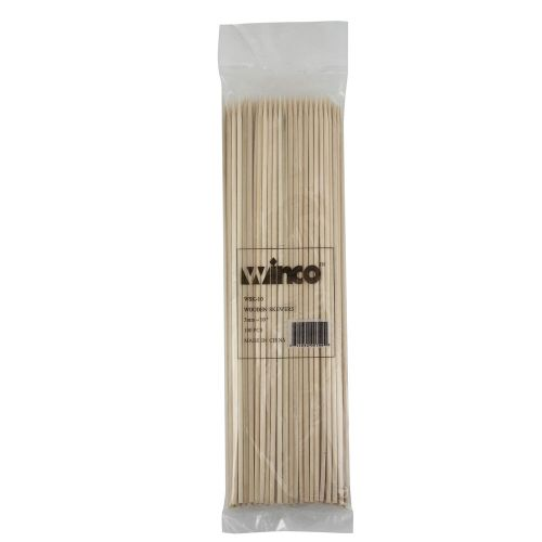 Winco WSK-10, 10-Inch Bamboo Skewers, 100/PK