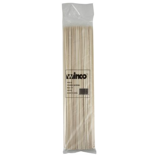 Winco WSK-12, 12-Inch Bamboo Skewers, 100/PK