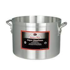 4.25-Quart 4.5 Inch High 9-Inch Diameter Aluminum Sauce Pan with He Winco ASP-4