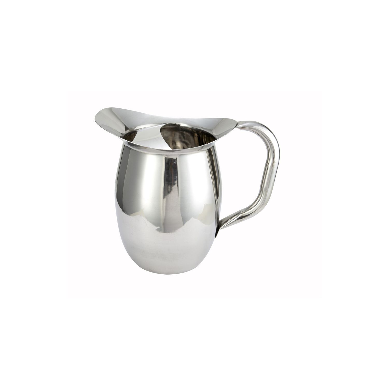 2-Quart Hammered Bell Pitcher Winco WPB-2H Stainless Steel
