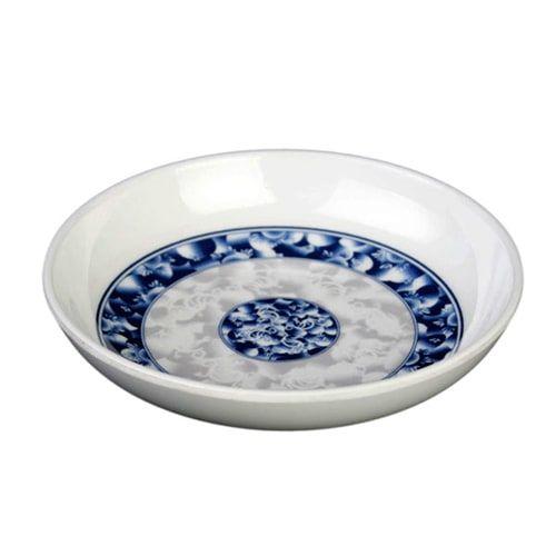 Thunder Group 1003DL 3 Oz 3 7/8 Inch Diameter Asian Blue Dragon Melamine Sauce Dish, DZ