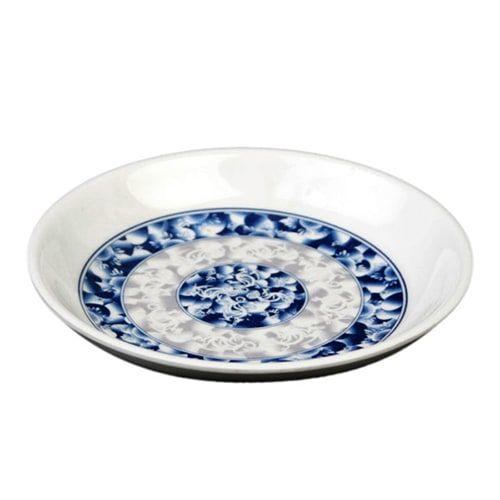 Thunder Group 102.8DL 2 Oz 3 1/2 Inch Diameter Asian Blue Dragon Melamine Sauce Dish, DZ