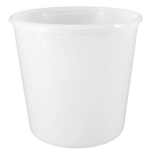 SafePro 128, 168 Oz White Plastic Containers, 120/CS. Lids Are Sold Separately