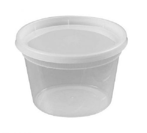 SafePro 16HD, 16 Oz Clear Plastic HD Soup Combo, Containers with Flat Lid, 240/CS