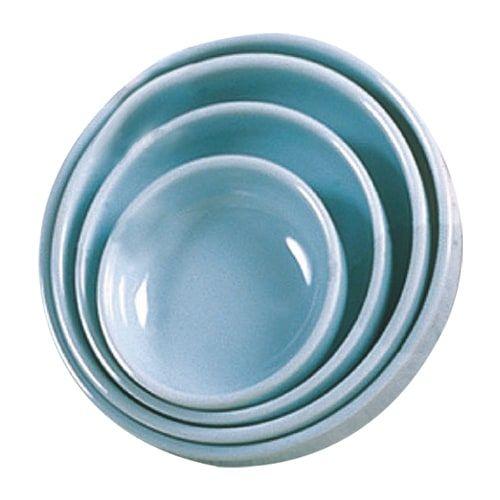 Thunder Group 1906 14 Oz 6 Inch Diameter Asian Blue Jade Flat Round Bowl, DZ