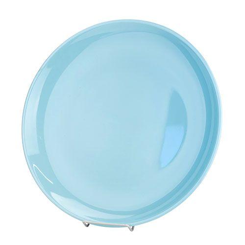 Thunder Group 1907 7 1/8 Inch Diameter Asian Blue Jade Melamine Round Plate, DZ