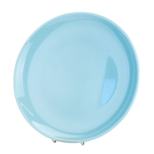 Thunder Group 1910 9 3/4 Inch Diameter Asian Blue Jade Melamine Round Plate, DZ