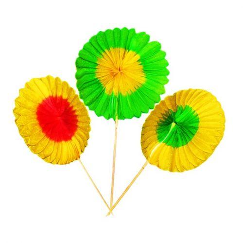 21014 3.9-Inch Sunflower Picks, 100-Piece Pack