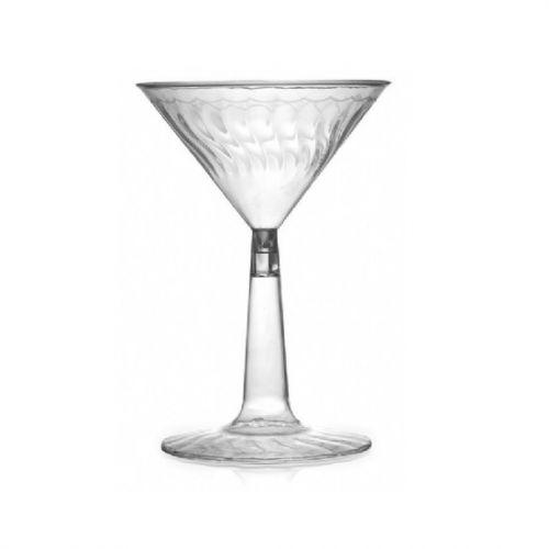 Fineline Settings 2306-CL-X, 6 Oz. Flairware Clear Plastic Martini Glasses, 12-Piece Pack
