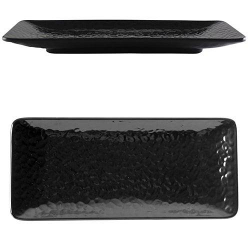 Thunder Group 24110BK 11 1/4 x 5 Inch Western Classic Black Melamine Rectangular Plate, DZ