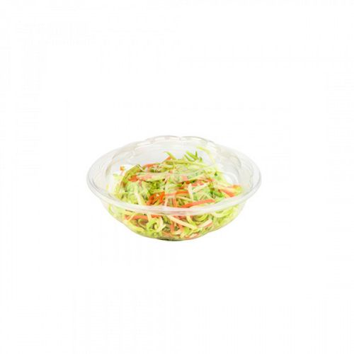 SafePro 24SW150, 24 Oz Clear PET Swirl Bowl with Swirl Lid Combo, 150/CS