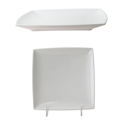 Thunder Group 29006WT 6 Inch Western Classic White Melamine Square Plate, DZ