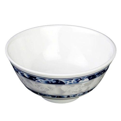 Thunder Group 3006DL 9 Oz 4 3/8 Inch Diameter Asian Blue Dragon Melamine Rice Bowl, DZ