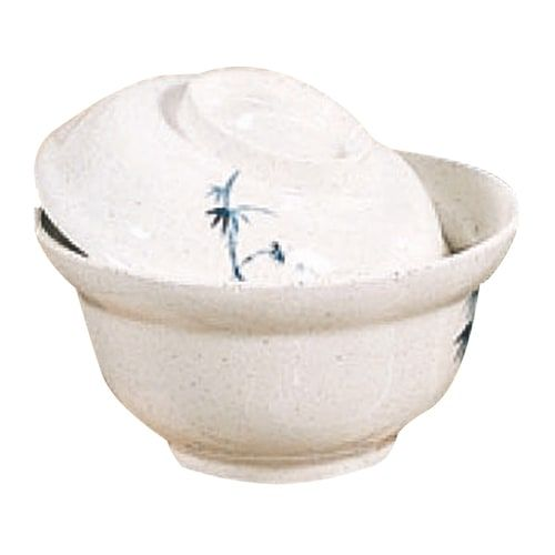 Thunder Group 3201CBB 5 1/4 Inch Asian Blue Bamboo Melamine White Lid for a Noodle Bowl, DZ