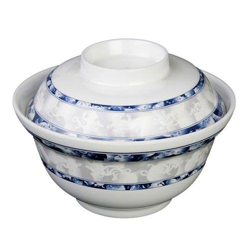 Thunder Group 3201DL 20 Oz 5 3/4 Inch Diameter Asian Blue Dragon Melamine Noodle Bowl without Lid, DZ