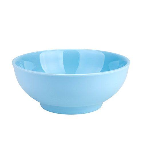 Thunder Group 3904 8 Oz 4 1/2 Inch Diameter Asian Blue Jade Melamine Bowl, DZ