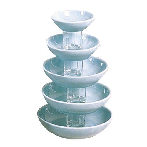 Thunder Group 3945 6 Oz 4 1/2 Inch Diameter Asian Blue Jade Melamine Sauce Dish, DZ