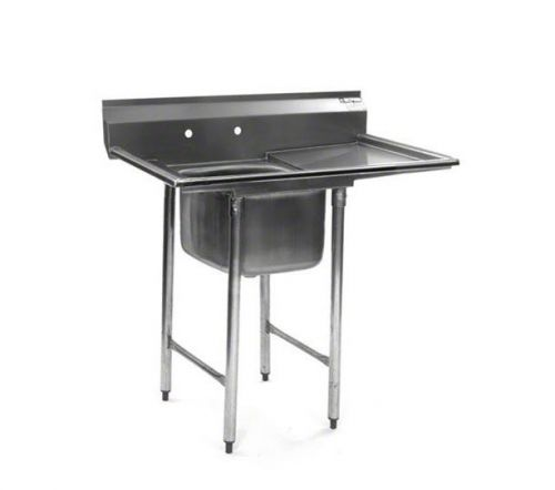 Eagle Group 412-16-1-18R, Stainless Steel Commercial Compartment Sink with 16-Inch Bowl and 18-Inch Drainboard, NSF